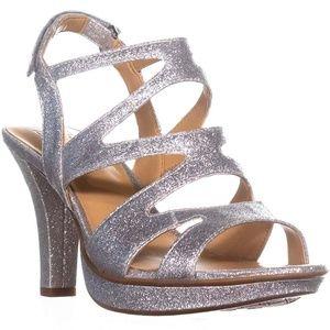 Naturalizer Dianna Slingback Sandals Silver Glitte